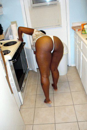 black girl no panties