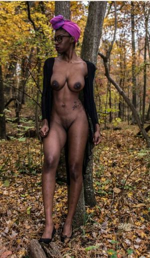 long ebony nipples