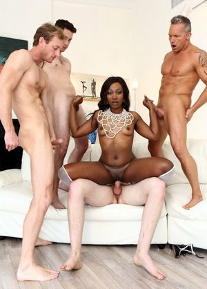white on black gangbang