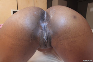 sloppy wet black pussy