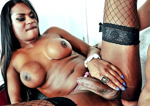 ebony tranny tube