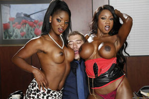 ebony threesome ffm