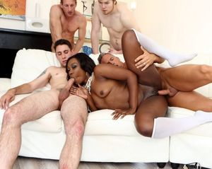 black guys gangbang white guy