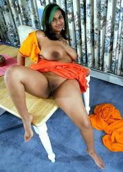 Ebony nude busty Huge Tits